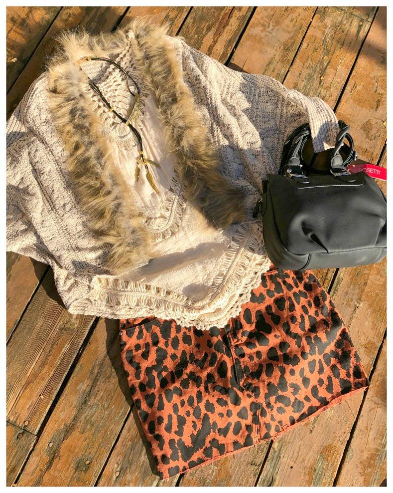 MISGUIDED MINI SKIRT Brown & Black Leopard Print Denim Mini Skirt LAST ONE SIZE 8