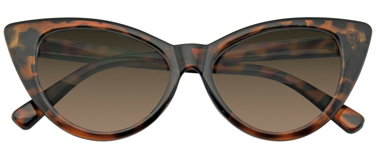 THE CATEYE SUNGLASSES Brown Leopard Cateye Retro Vintage Women Fashion Shades Eyewear