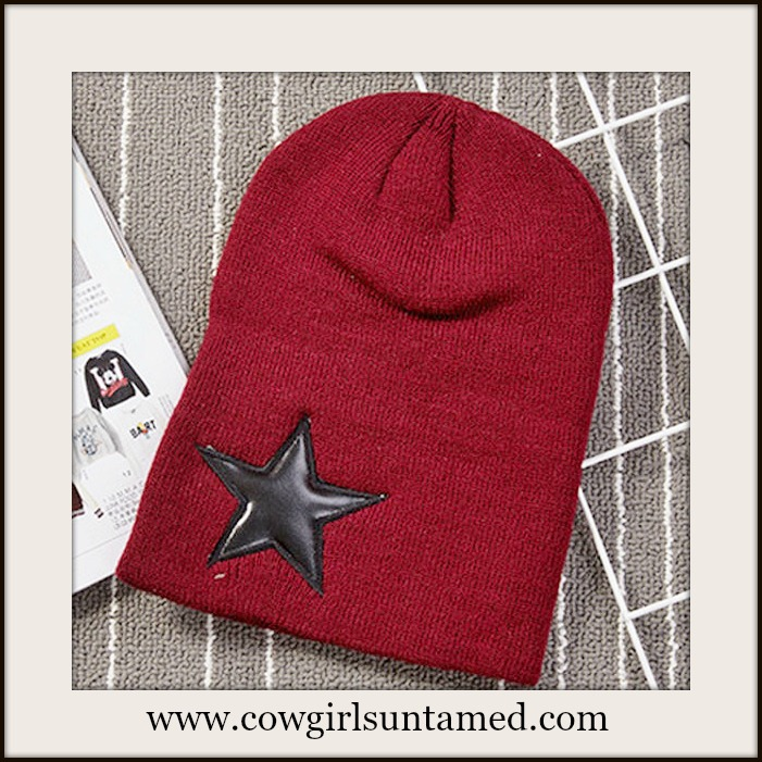 BEANIE CAP  Unisex Knit Hat with Star