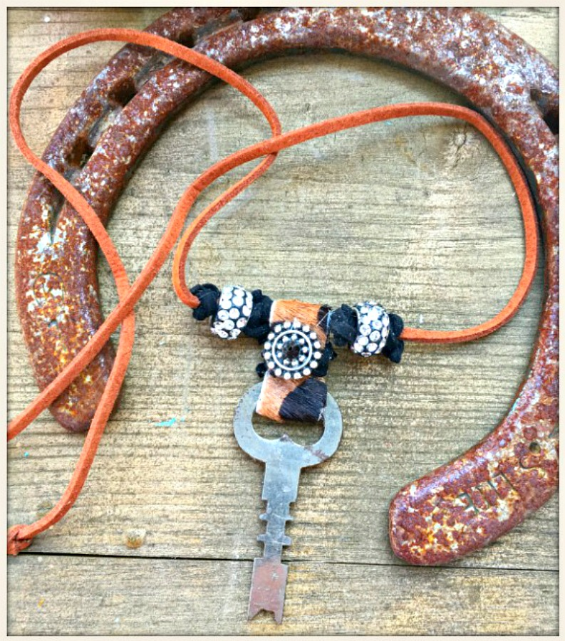 Leopard Leather Knot Crystal Bead