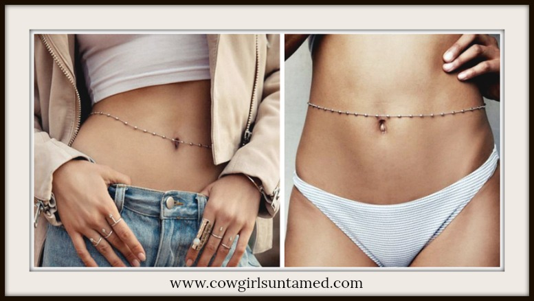BOHEMIAN COWGIRL BELLY CHAIN Dot & Bead Boho Belly Chain