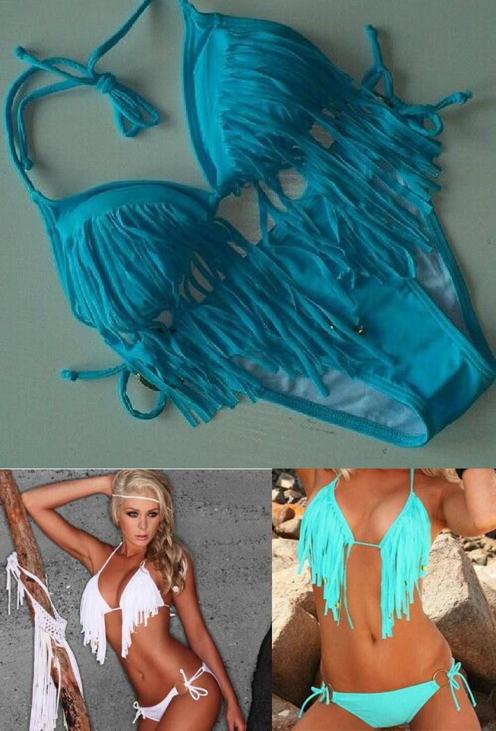 COWGIRL GYPSY BIKINI Fringe & Tassel Boho String Bikini  5 COLORS!! LIMITED QUANTITIES LEFT!