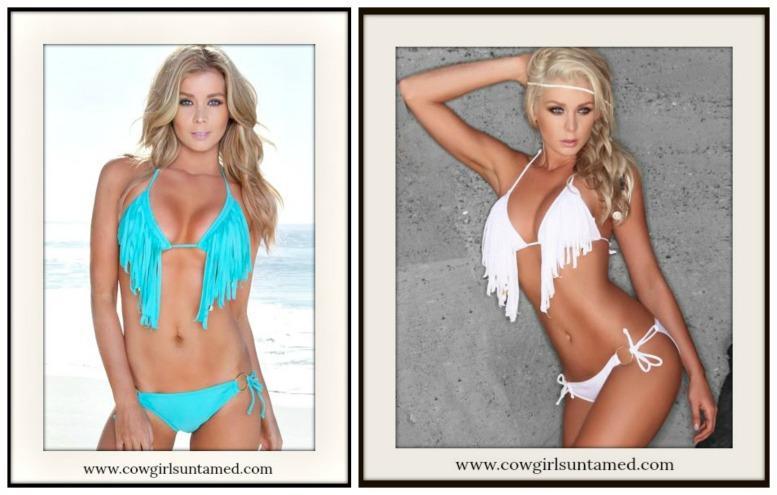 COWGIRL GYPSY BIKINI Fringe & Tassel Boho String Bikini  5 COLORS!!
