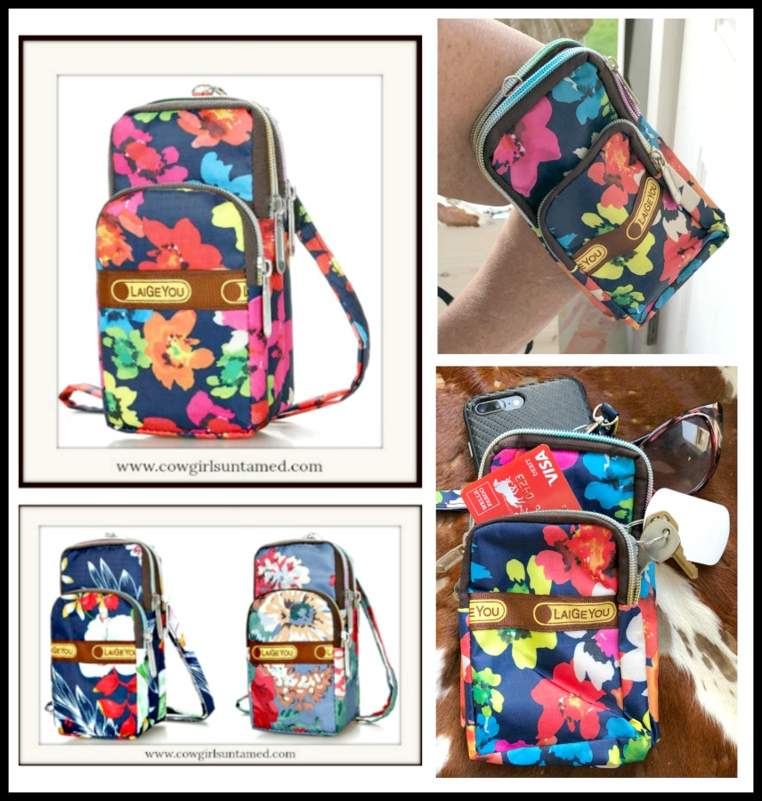 COWGIRL STYLE SPORT BAG Floral Nylon Sport Bag / Saddle Bag 3 PATTERNS!