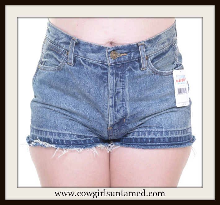 BOHEMIAN COWGIRL SHORTS Denim Boho Designer Cut Off Jean Shorts