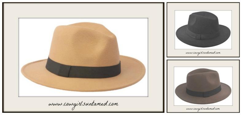 VINTAGE COWGIRL HAT Felt Fedora Hat