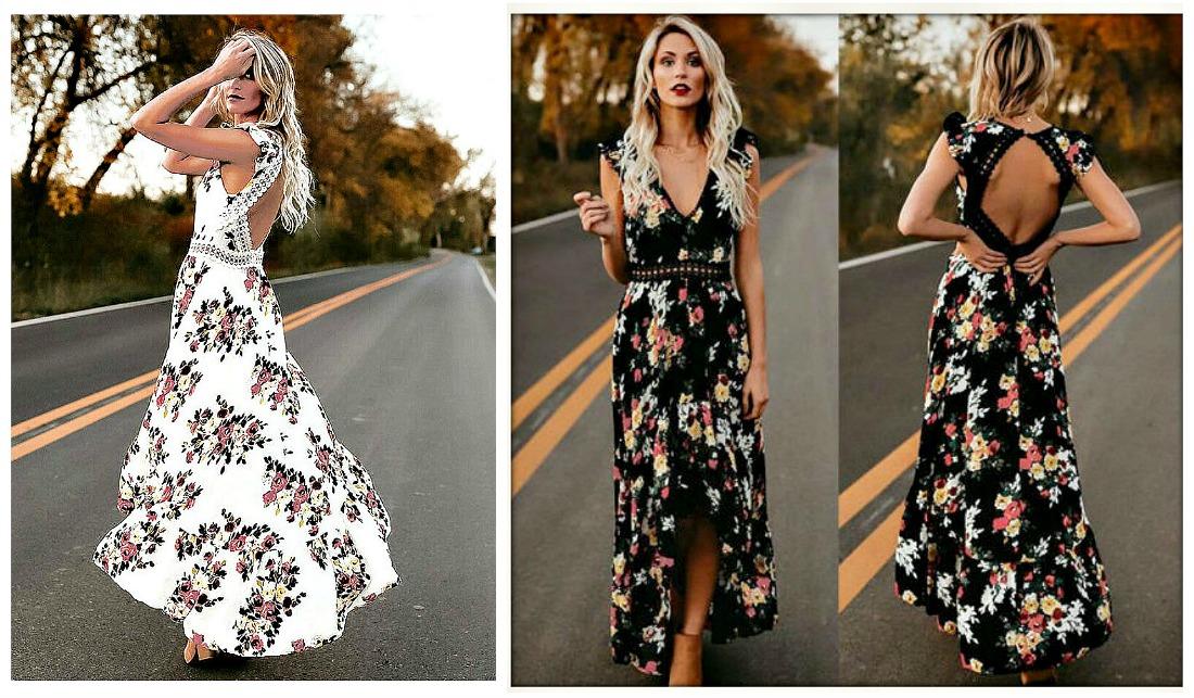 MAGNOLIAS BLOOM DRESS Floral Open Back Sleeveless Maxi Dress