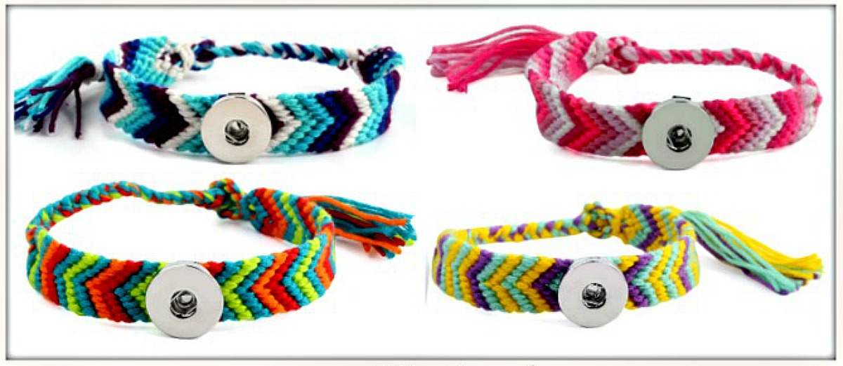 COWGIRL ATTITUDE BRACELET Multi Color Arrowhead Weaved Friendship Bracelets with Silver Snap