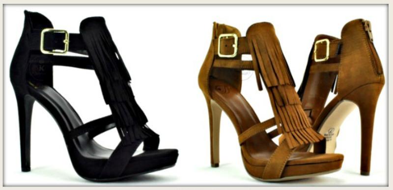 BOHO CHIC HEELS Fringe Platform Stiletto Heels
