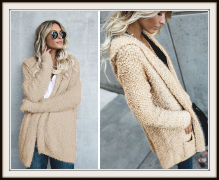 Soft And Cozy Fuzzy Long Open Boho Cardigan Sweater With