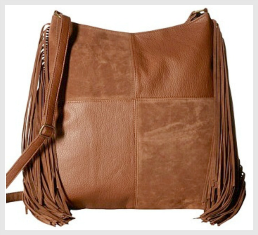 COWGIRL GYPSY HANDBAG Cognac Brown Leather Fringe Designer Crossbody Handbag LAST ONE!