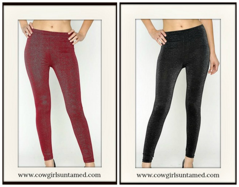 GOING GLAM LEGGINGS Glimmer Leggings  2 COLORS!