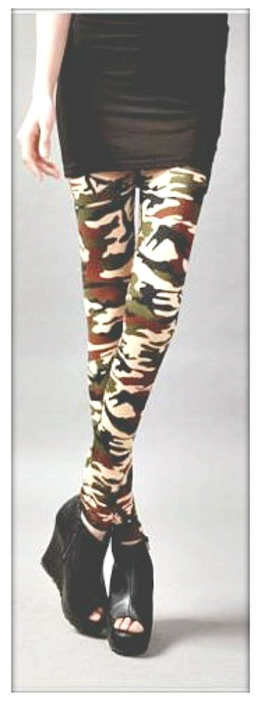 CAMO COWGIRL PANTS Green Beige Brown Black Camo Western Leggings
