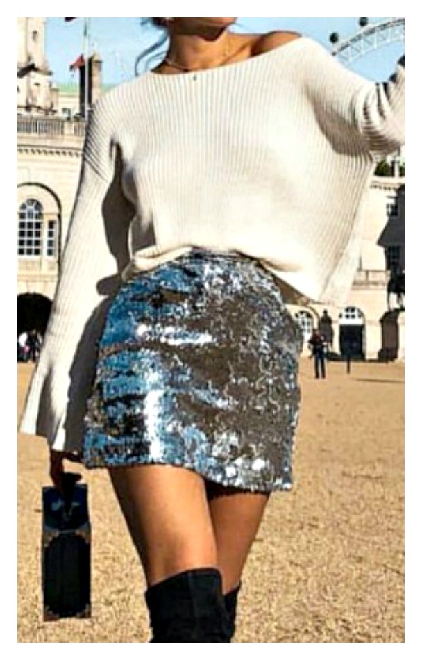 COWGIRL GYPSY SKIRT Grey Sequin Party Mini Skirt