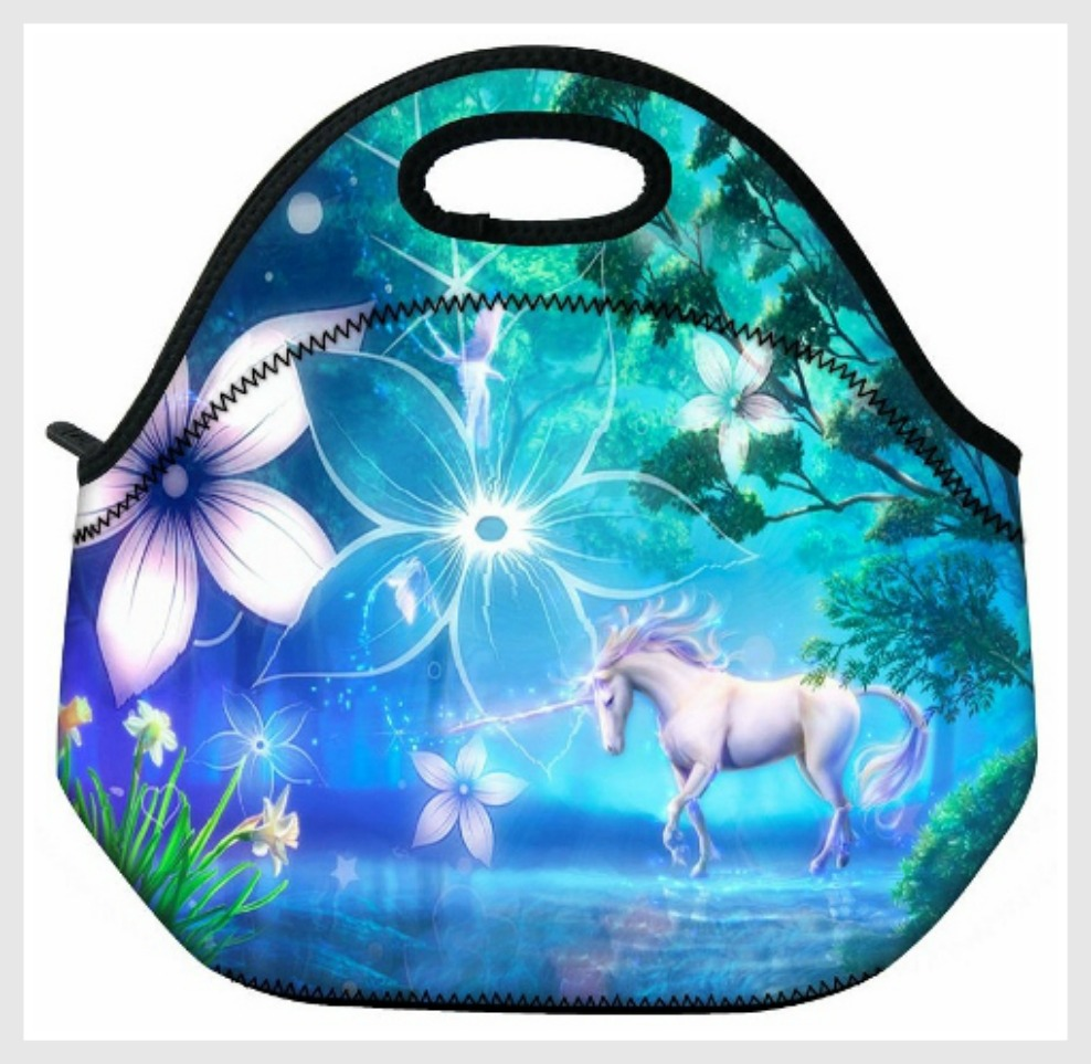 WESTERN COWGIRL HOME DECOR Floral & Horse Image Lunch Bag Cooler Tote