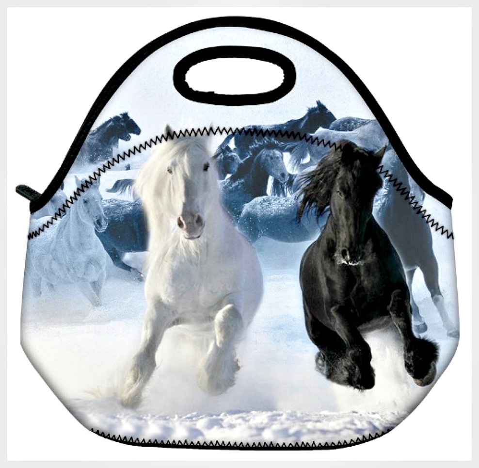 WESTERN COWGIRL HOME DECOR Horse Image Lunch Bag Cooler Tote