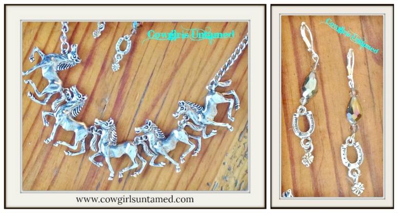 Horse Lovin Cowgirl Antique Silver Western Statement