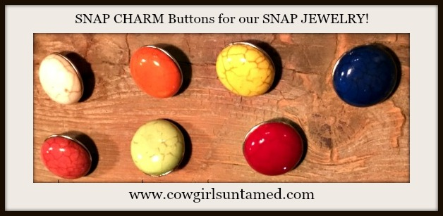 SNAP ON JEWELRY BUTTONS Several Colors of Turquoise SNAP ON Jewelry Buttons