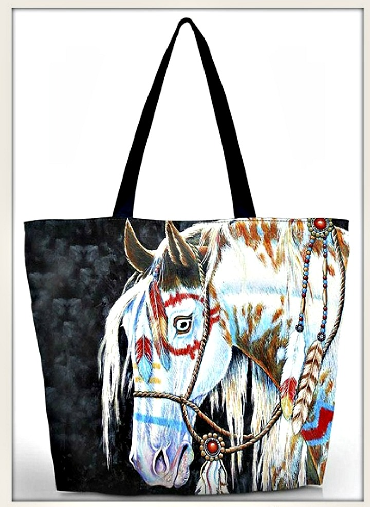 WAR PONY TOTE Indian War Pony Shoulder Bag Tote