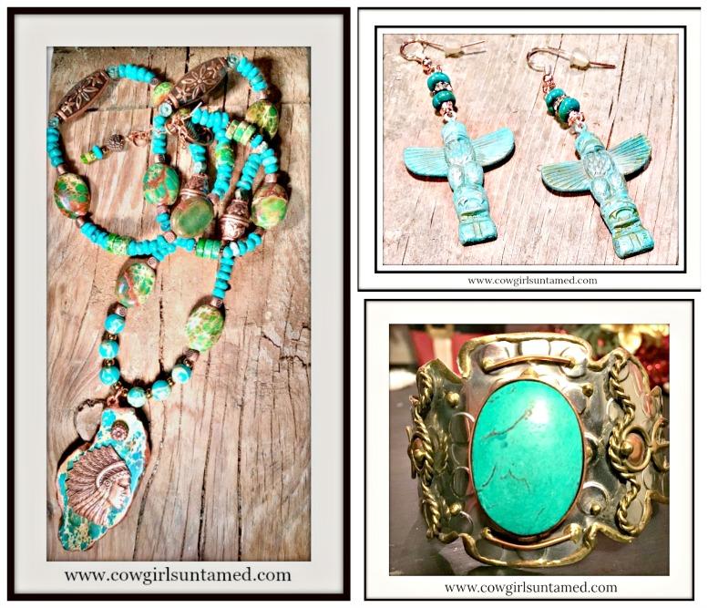 Antique Patina Copper Rhinestone Gemstone Vintage Style