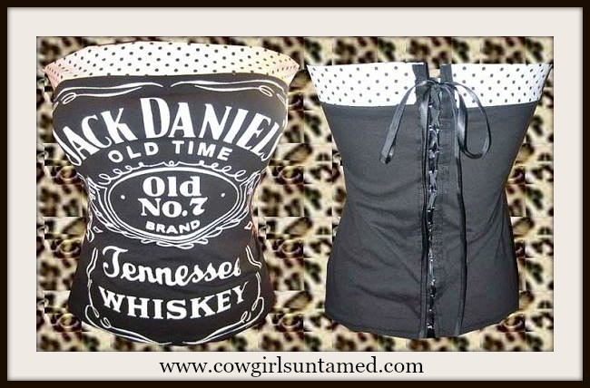 "COUNTRY COWGIRL CORSET ""Jack Daniels Old No 7 Tennessee Whiskey"" Corset"