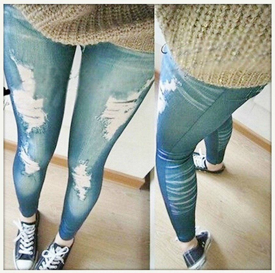 COWGIRLS ROCK LEGGINGS  Stretchy Skinny Jeggings Distressed Pant Leggings