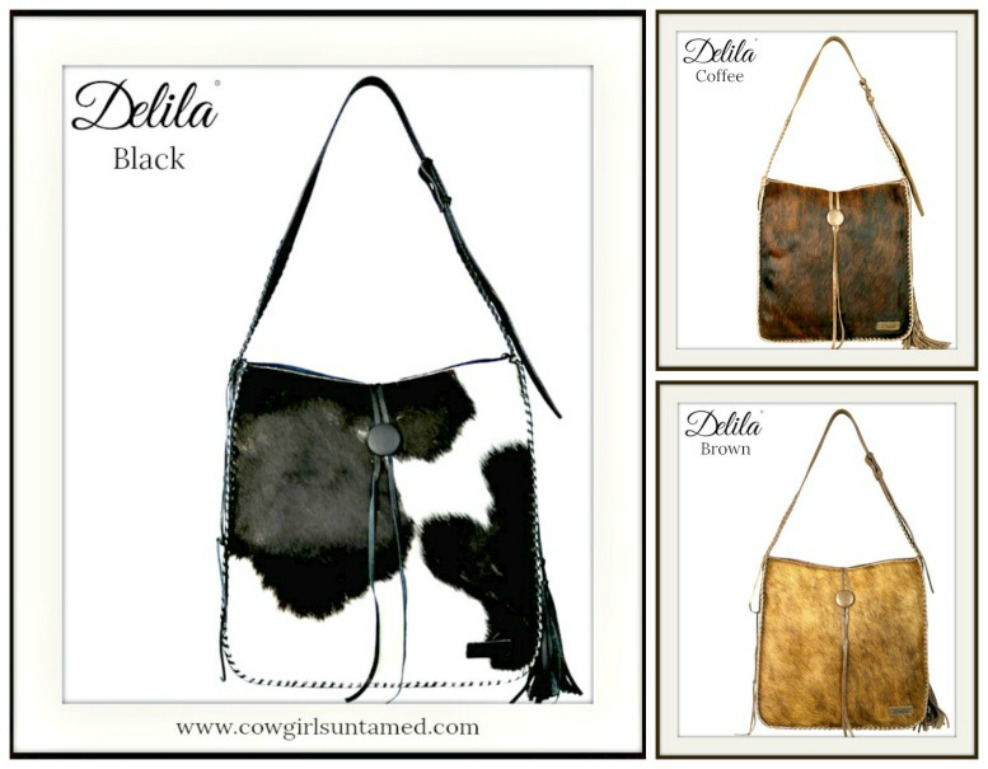 BOHEMIAN COWGIRL TOTE Delila 100% Genuine Leather Hair-On Hide Luxury Tote