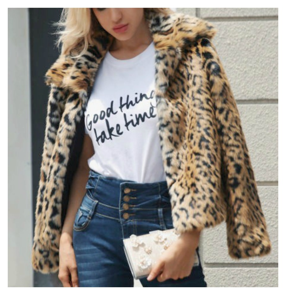 ON THE PROWL COAT LIMITED TIME OFFER Beautiful Brown & Black Faux Leopard Fur Open Front Coat  PLUS & MISSES