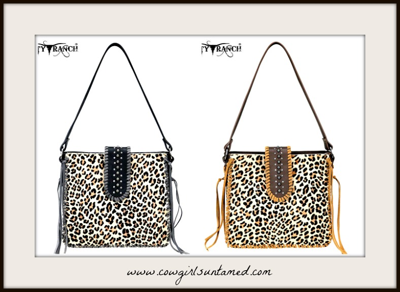 ON THE PROWL TOTE Leopard Fur Tassel Shoulder Tote