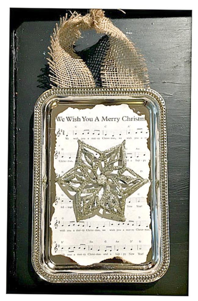 COWGIRL CHRISTMAS DECOR Handmade Embellished Snowflake Music Sign Farmhouse Wall Hanging