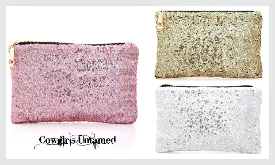 GOING GLAM HANDBAG Metallic Sequin Bag/Clutch/Makeup or Coin Purse