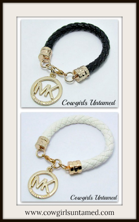 COWGIRL GLAM BRACELET Michael Kors MK Charm on Leather Bracelet