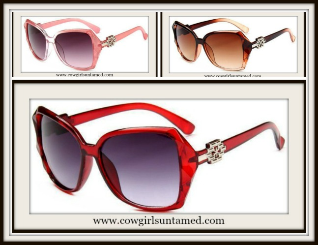 COWGIRL GLAM SUNGLASSES Ombre Large Boutique Sunglasses