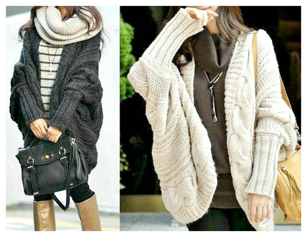 COWGIRL STYLE SWEATER Oversized COMFY Batwing Open Cardigan Sweater