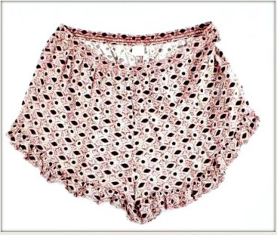 WILDFLOWER SHORTS Pink Ruffle Elastic Waist Shorts  Sizes S-XL