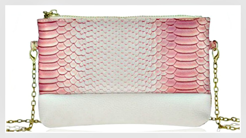 TOUCH OF GLAM PURSE Soft Crocodile Pattern Faux Leather Crossbody / Wristlet