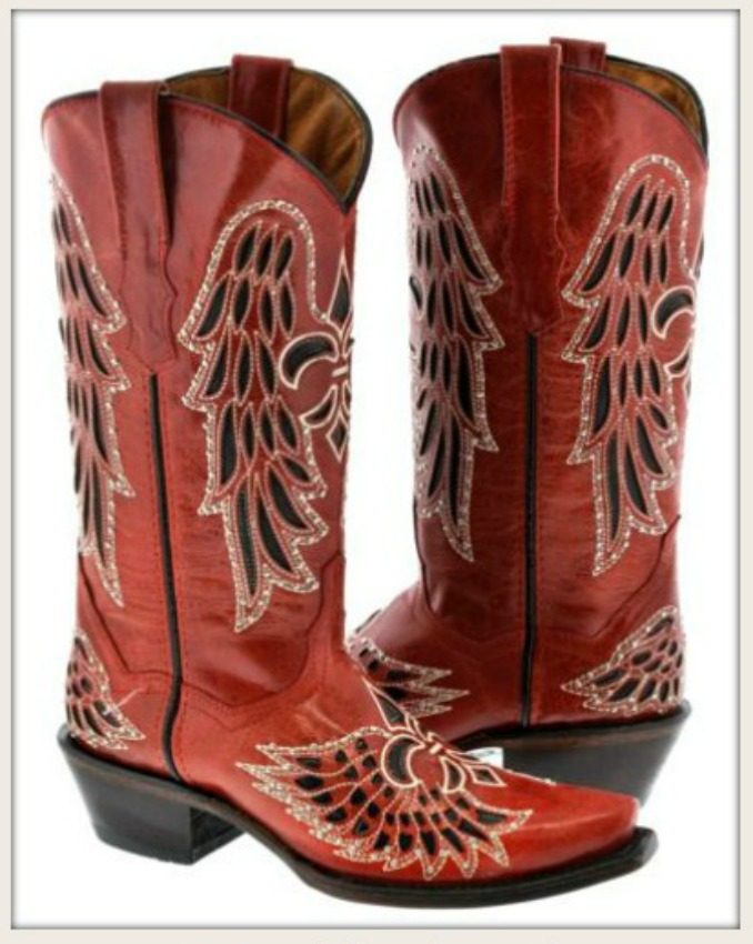 827ca463186 Red and Black Embroidered Fleur De Lis Rhinestone Studded GENUINE LEATHER  Cowgirl Boots, rodeo, rebel, fleur de lis, red, black, leather, boots, ...