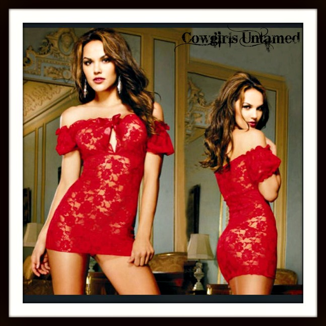 TRIPLE X LINGERIE Sexy Red Lace Babydoll Top Lingerie
