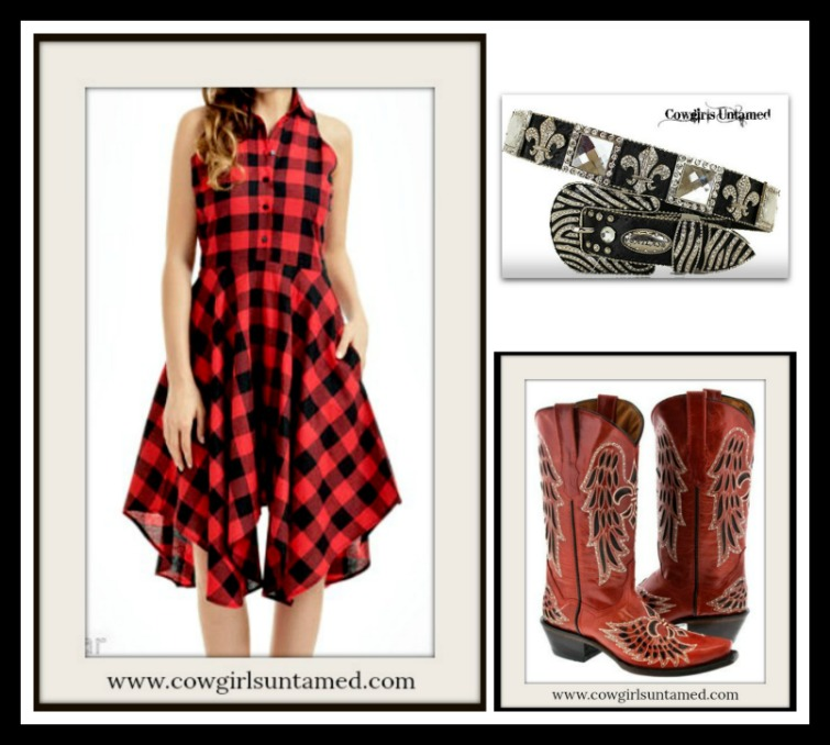 COWGIRL STYLE BELT Cowgirl Western Rhinestone Fleur De Lis & Square Conchos with Zebra Buckle on Black Leather Belt