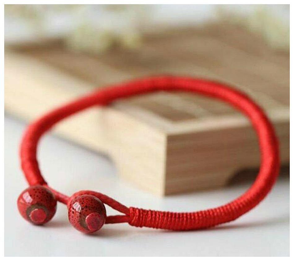 GOOD LUCK BRACELET Tibetan Red String Womens Boho Bracelet