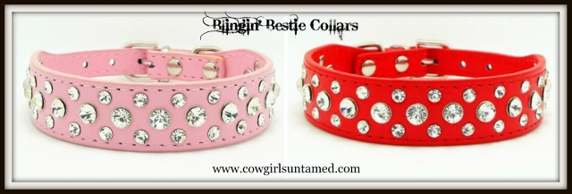 BLINGIN' BESTIES Rhinestone Studded Collar