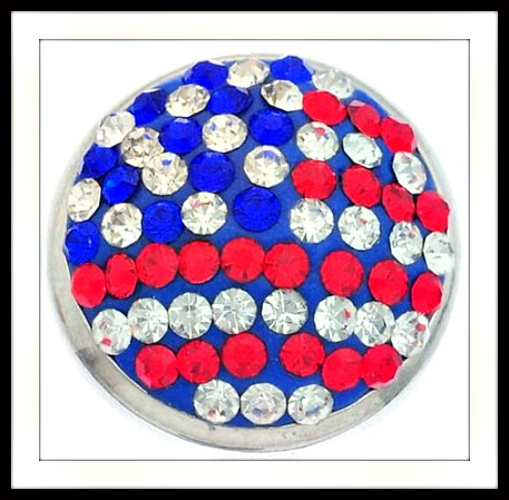 AMERICAN PRIDE SNAP CHARM Patriotic Snap Charms for Snap Bracelets and Necklaces