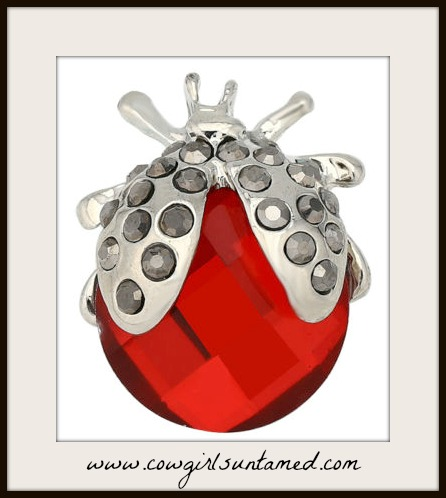 SNAP ON JEWELRY BUTTONS Grey Rhinestone Red Crystal Silver Ladybug