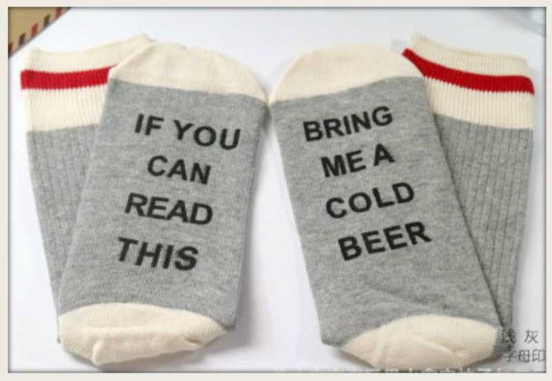 "SASSY COWGIRL SOCKS ""If You Can See This Bring Me a Beer"" Socks"
