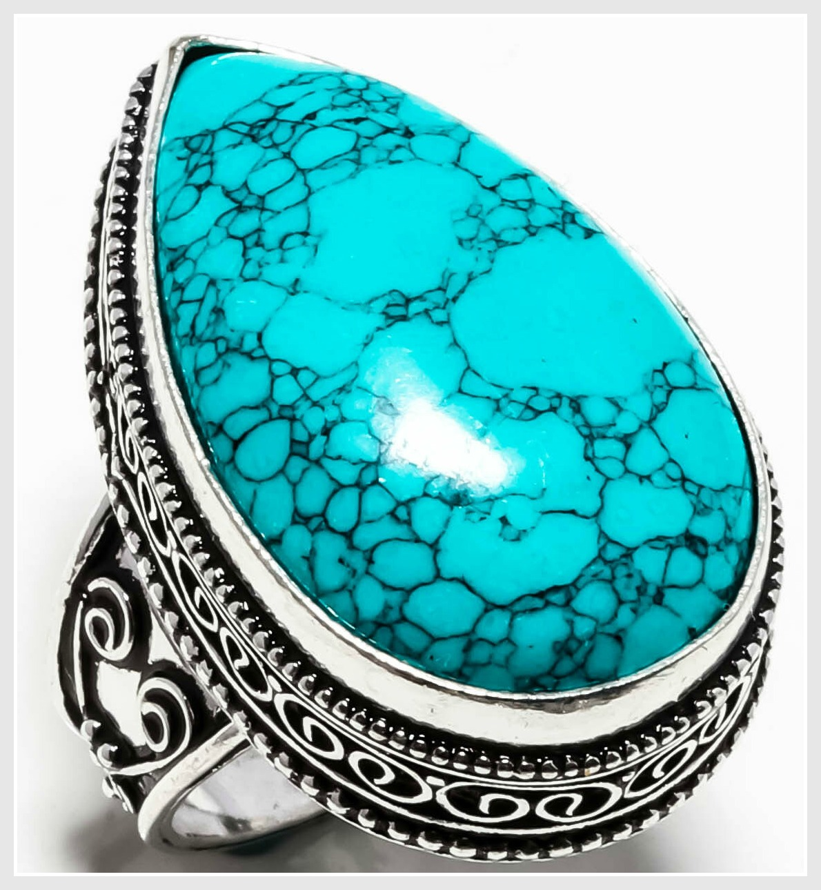 SANTA ROSA RING Santa Rosa Turquoise Gemstone Large Handmade 925 SS Ring