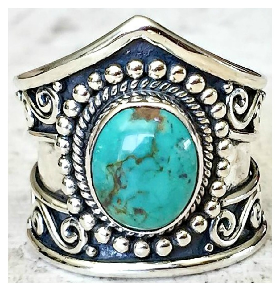 BOHEMIAN COWGIRL RING Sterling Silver Turquoise Ring  ONLY 1 of EACH LEFT