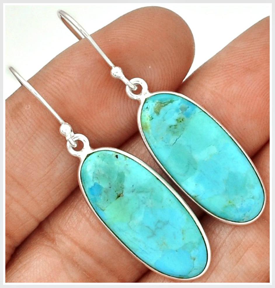 WILDFLOWER EARRINGS Sleeping Beauty Aqua Turquoise 925SS Earrings