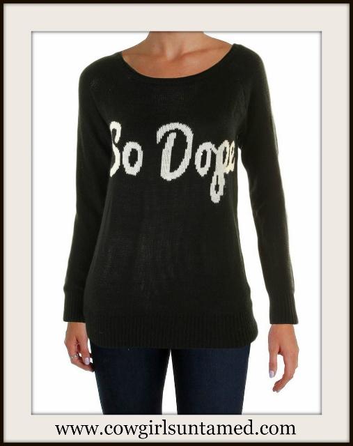 "DESIGNER SWEATER ""So Dope"" White and Black Designer Pullover Sweater"
