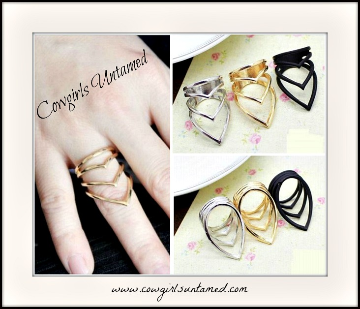 COWGIRL GYPSY RING Simple 4-layer Point Neutral Ring