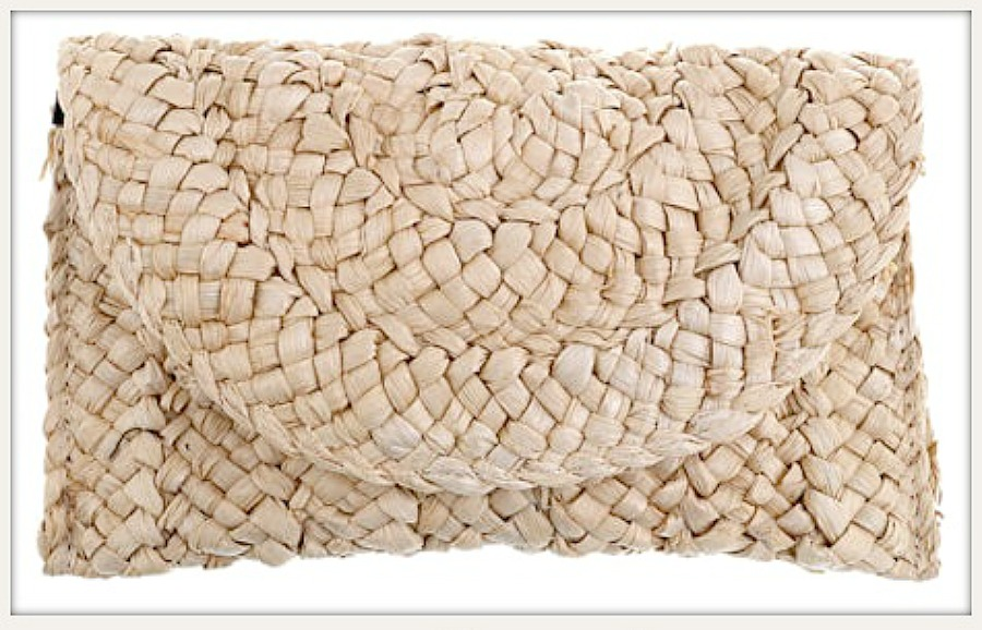BOHEMIAN COWGIRL BAG Braided Natural Straw Clutch